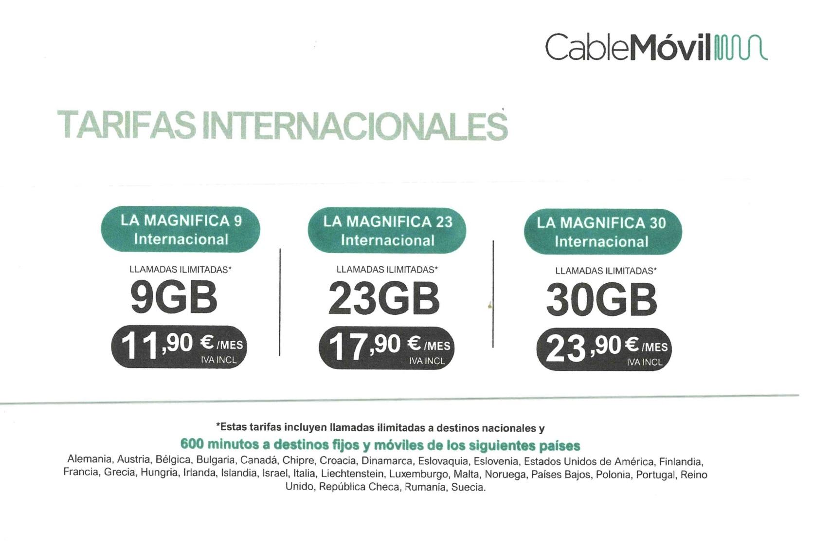 tarifas internacionales cablemovil octubre 2021